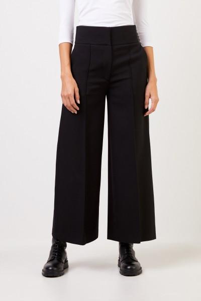 Stella McCartney Wool trousers with wide leg Black
