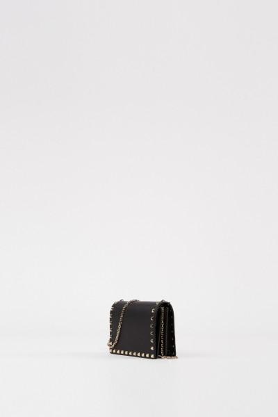 Valentino Umhängetasche mit Nieten Schwarz