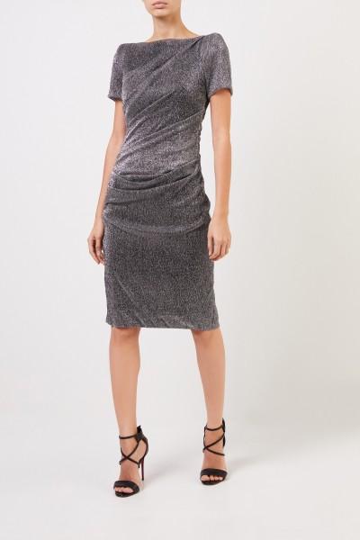Kurzes Kleid mit Lurexdetails Silber