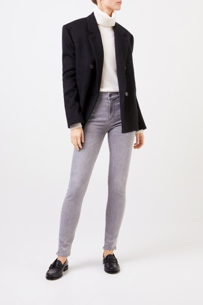 Citizens of Humanity Highrise Skinny-Jeans 'Rocket' Grau