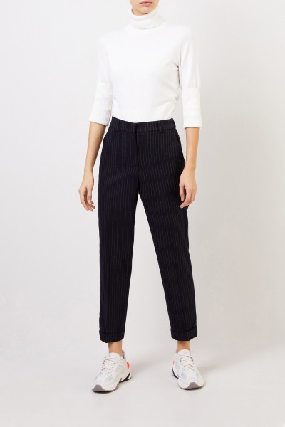 Wool pants with pinstripe Blue