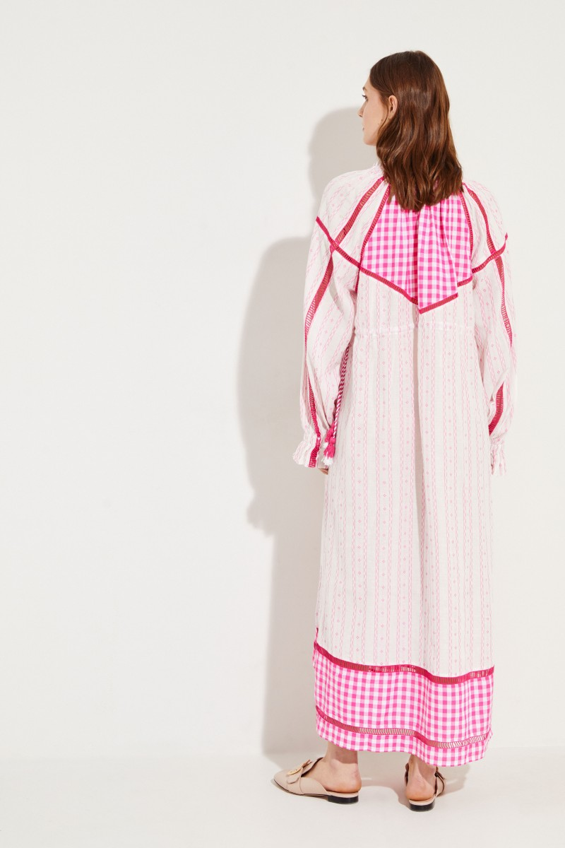 Langes Kleid 'Regina' Fuchsia/Rosé