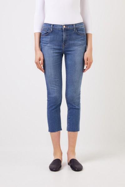 J Brand Straight Leg Jeans 'Lovesick' Blau
