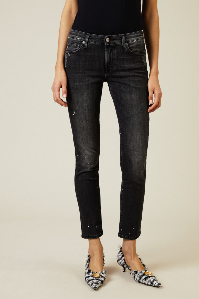 Jeans 'Pyper Crop Slim Illusion' Anthrazitgrau