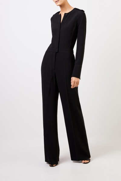 Stella McCartney Classic jumpsuit with buttons Black
