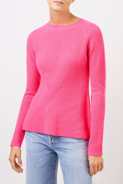 Uzwei Cashmere pullover with knit detail Pink