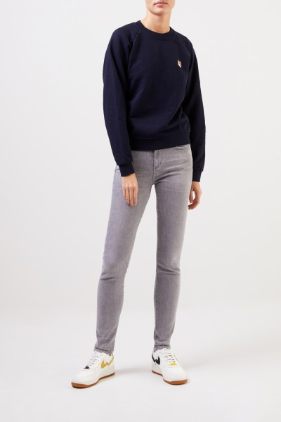 Maison Kitsuné Sweatshirt 'Fox Head Patch' Marineblau