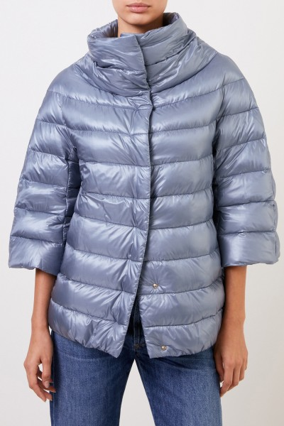 Herno Down jacket with stand-up collar Light Blue