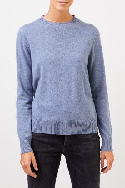 Uzwei Cashmere-Pullover mit Rippstrickkragen Blau