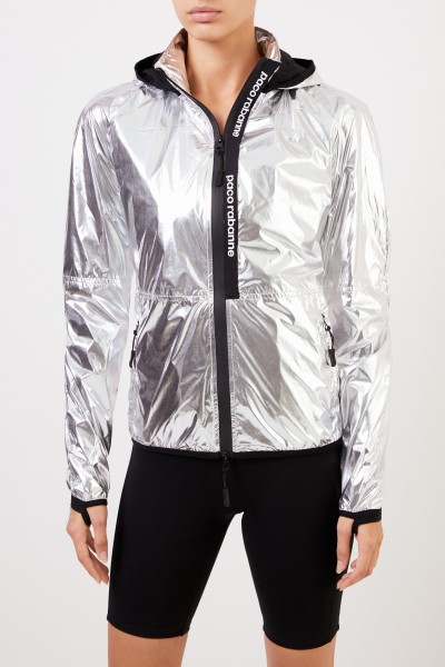 Paco Rabanne Jacket with hood Silver