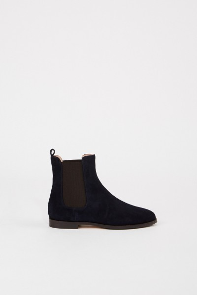 Unützer Suede leather chelsea boot Navy Blue