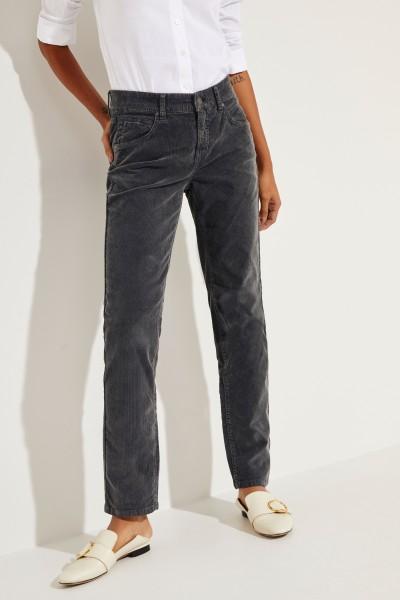 Feincord-Jeans 'Pina' Grau