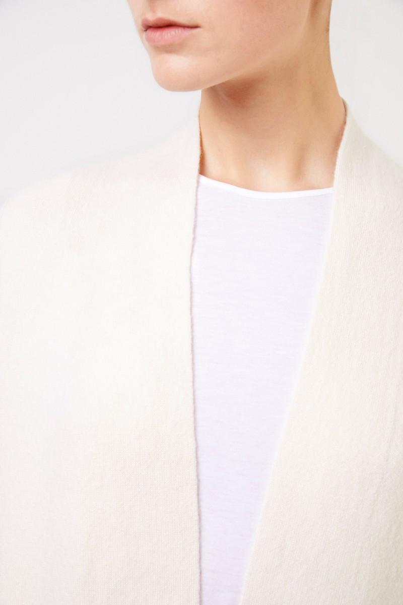Doubleface Cashmere-Seiden-Mantel 'Polla' Crème
