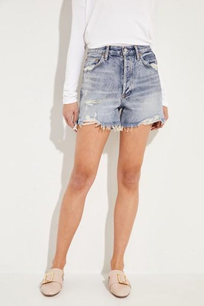 Jeans-Shorts 'Dee Short' im Destroyed-Look Blau
