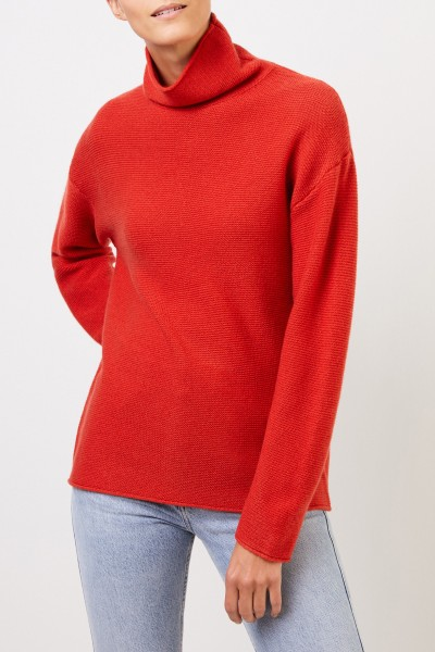 Uzwei Cashmere pullover with turtleneck Orange