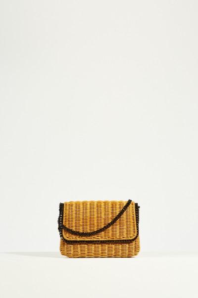 Shoulder Bag 'Falabella Wicker' Black/Brown