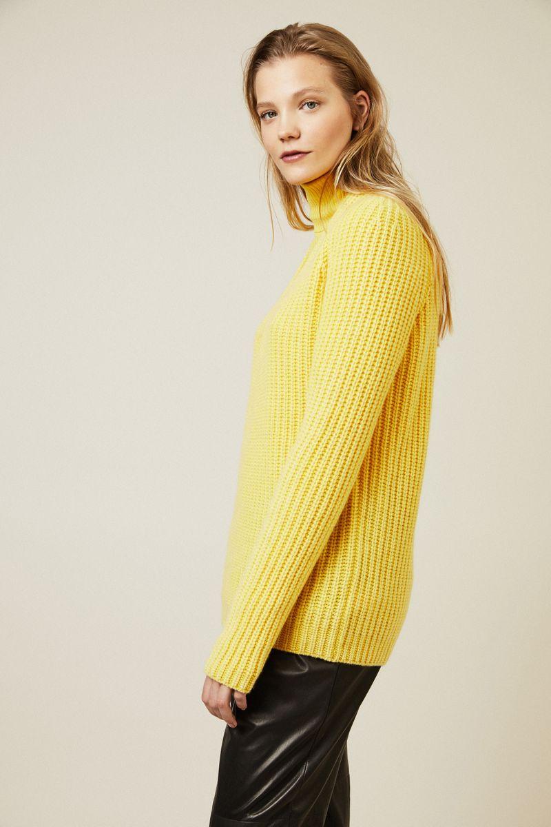 Cashmere Pullover 'Sardinia' Gelb