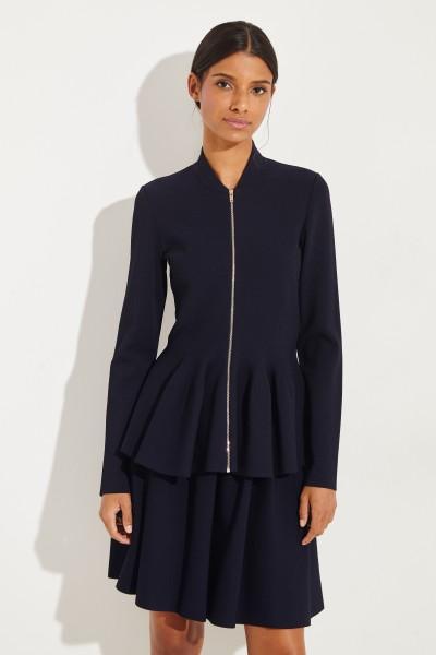 Jacke mit ausgestelltem Saum Blau
