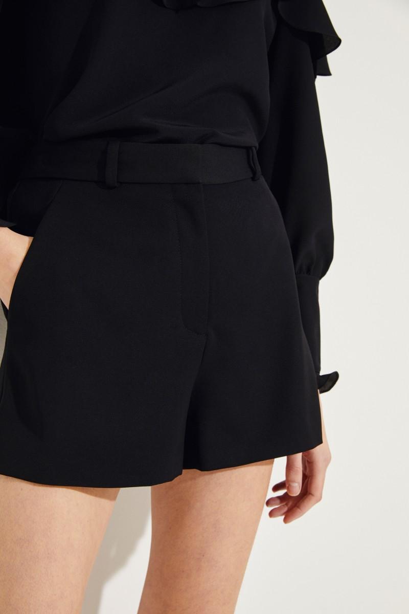 Woll-Shorts Schwarz