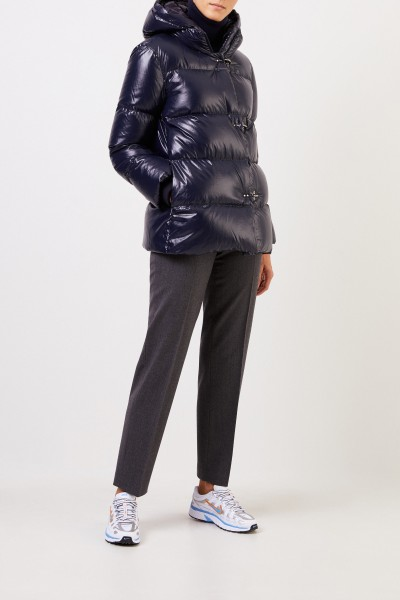 Fay Down jacket with hood Navy Blue