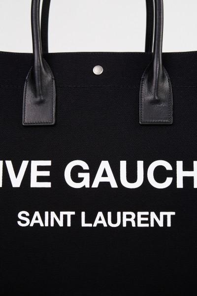 Saint Laurent Shopper 'Rive Gauche' Schwarz/Weiß
