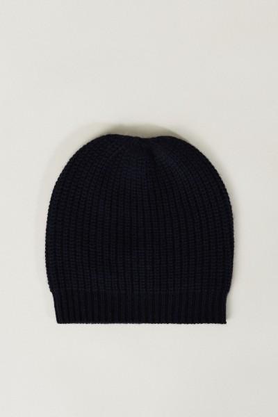 Cashmere-Mütze Blau