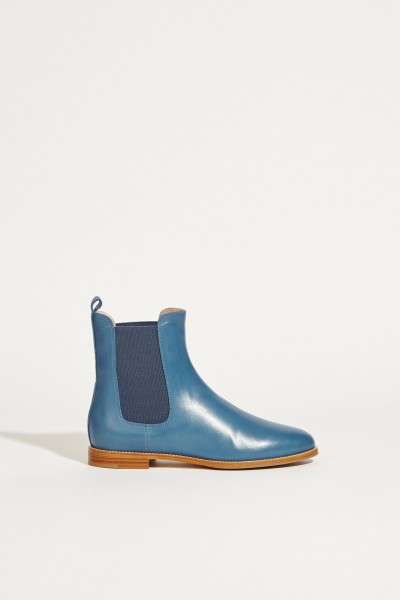 Leather Chelsea Boat Blue