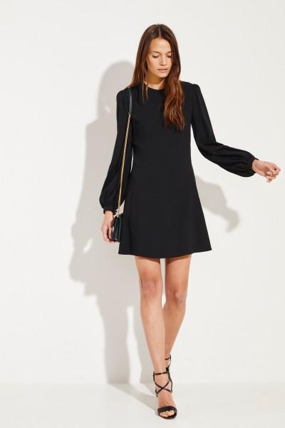 Saint Laurent Kurzes Kleid mit Rückenausschnitt Schwarz
