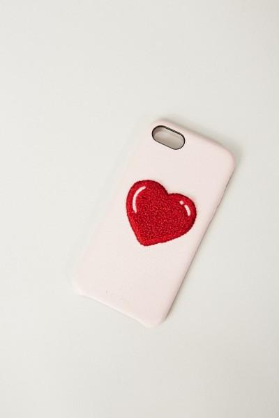 Iphone Case 7/8 mit Herzapplikation Rosé