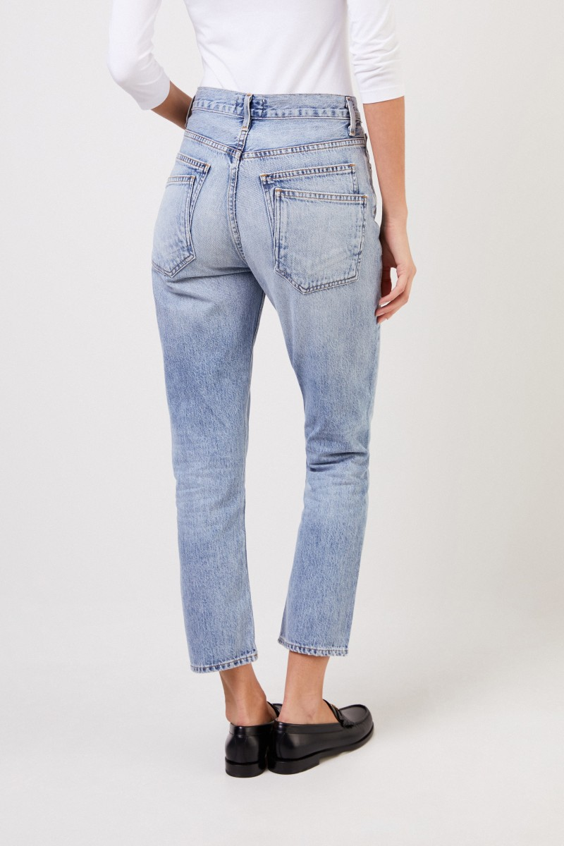 AGOLDE Jeans 'Riley Double-Pocket' Blau