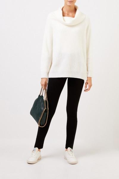 Stella McCartney Wool pullover with turtleneck Cream