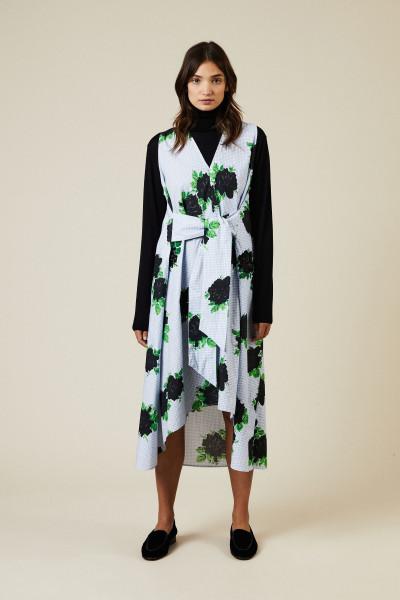 Baumwoll-Kleid 'Pine' mit Pailletten Multi