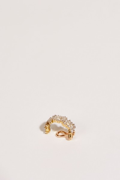 Ear Cuff 'Mirian' mit Diamanten Gold