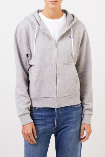 Maison Kitsuné Hoodie 'Tricolor Fox Patch' with hood Grey