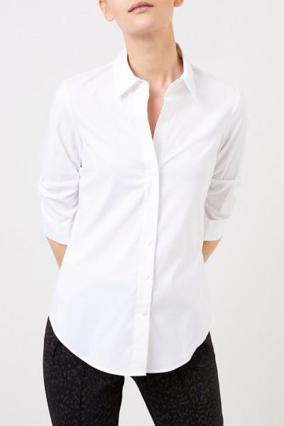 Steffen Schraut Classic Cotton Blouse with Gather White