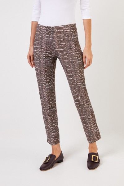 Seductive Stretch trousers 'Sabrina' with reptile print Multi