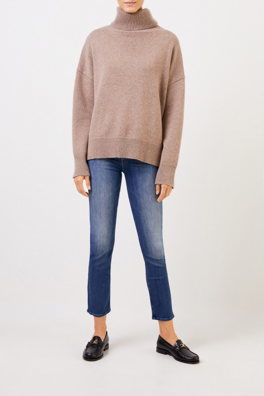 Mother Denim Midrise Jeans 'Dazzler' Blau