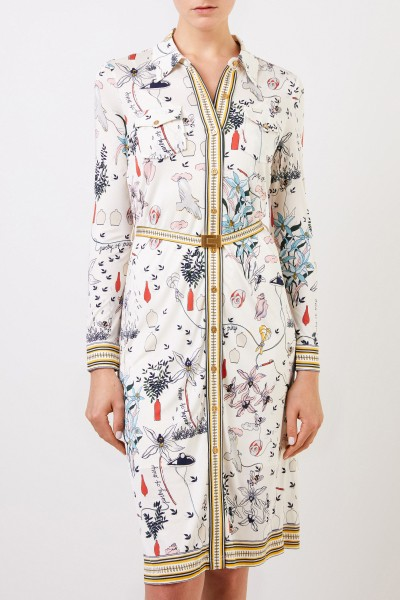 Tory Burch Shirt blouse dress with Allover-Print Multi