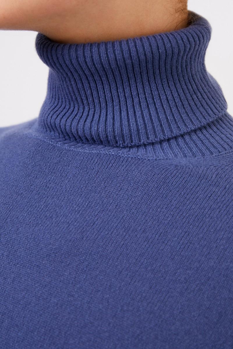 Colombo Cashmere-Rollkragenpullover Mittelblau