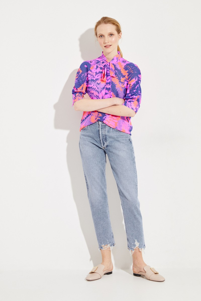 Bluse mit floralem Print Multi