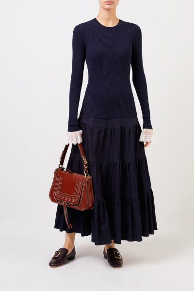 Chloé Shoulder bag 'Marcie Shoulder' Sepia Brown