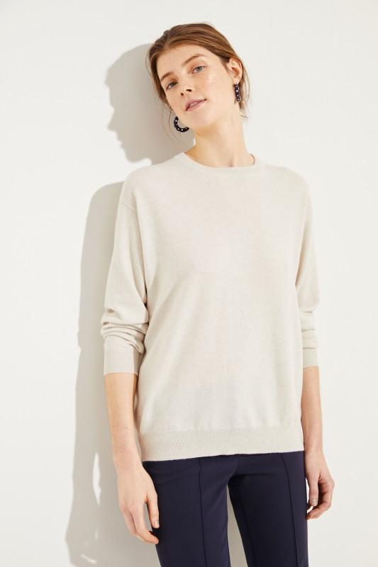 Cashmere-Pullover Écru