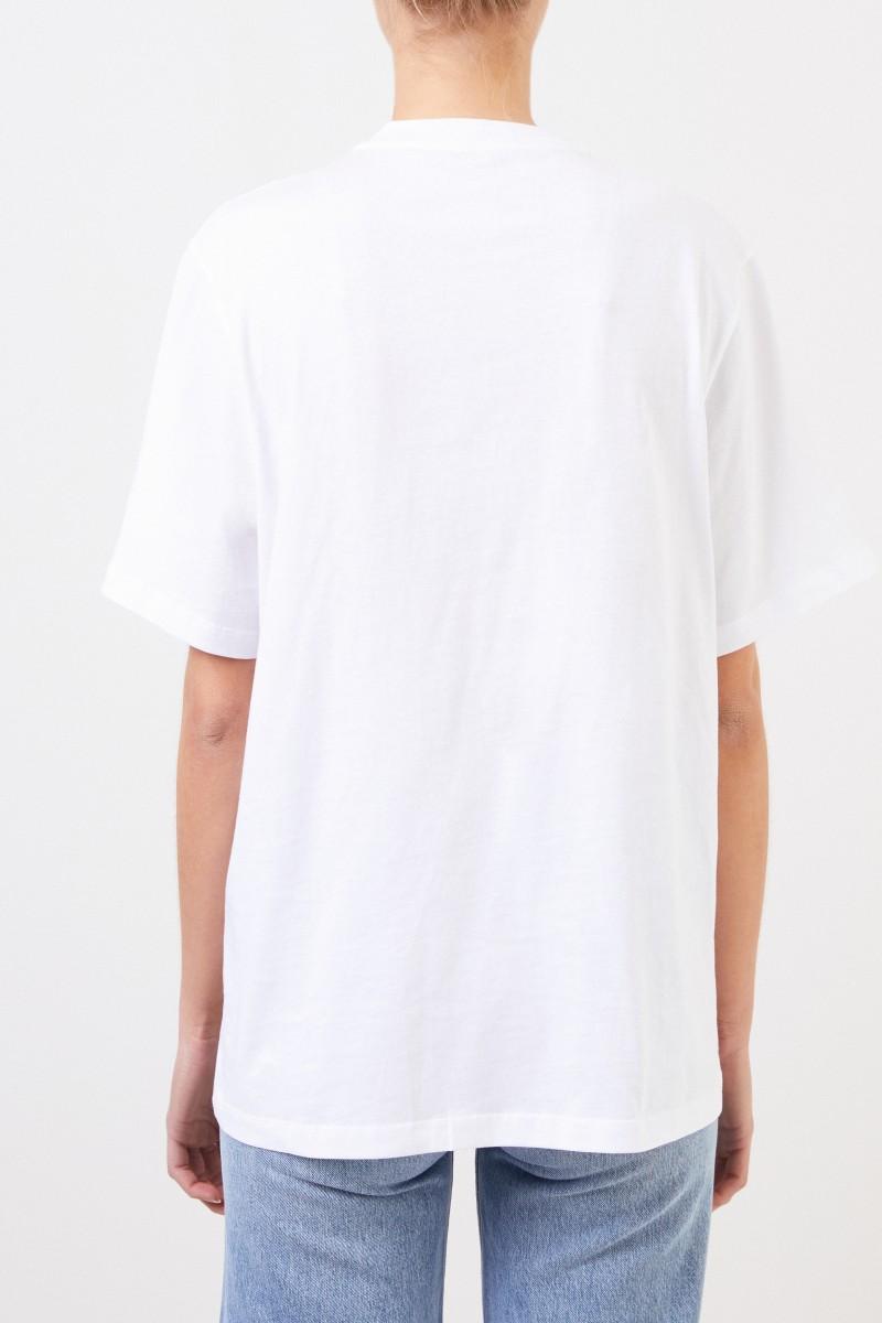 Stella McCartney T-Shirt mit Logo-Aufdruck Weiß