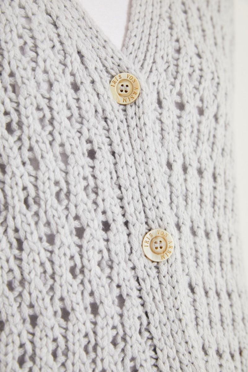 Woll-Cashmere-Cardigan 'Portia' Grau