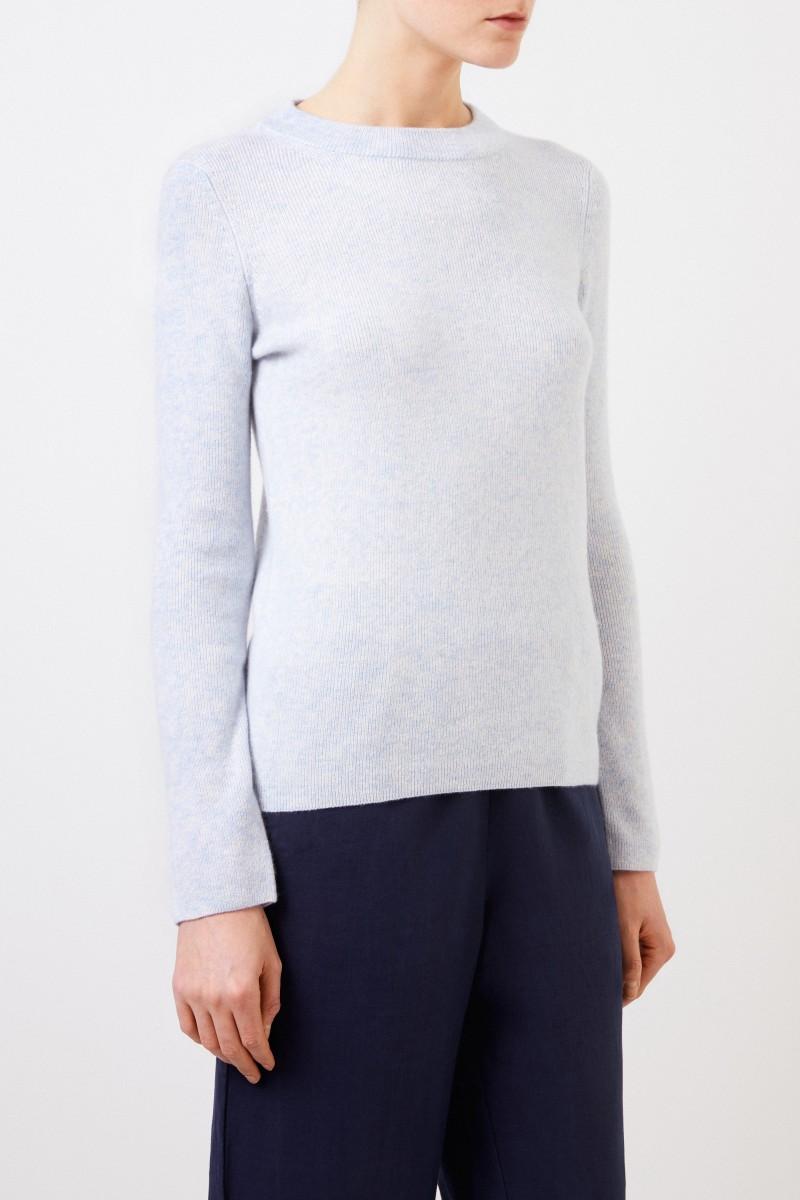 Iris von Arnim Cashmere-Seiden Pullover 'Talitha' Hellblau