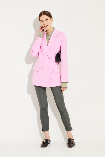 Stella McCartney Classic Wool Blazer Pink