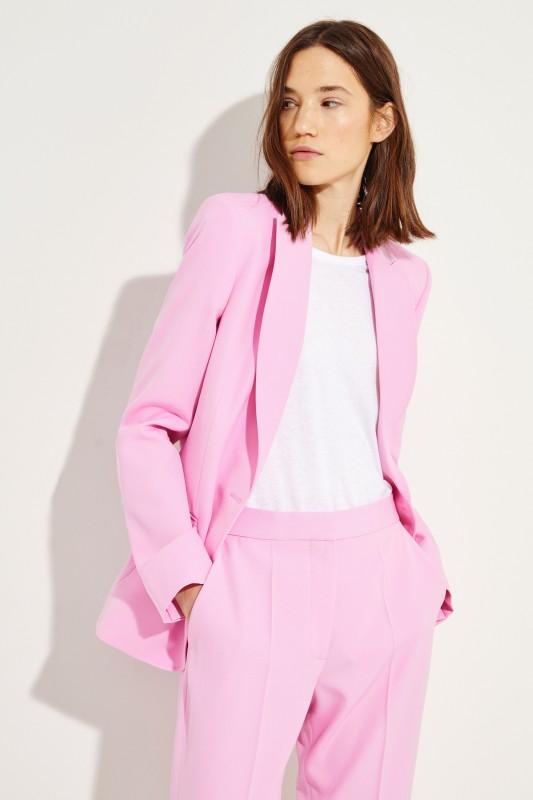 Klassischer Wollblazer Pink