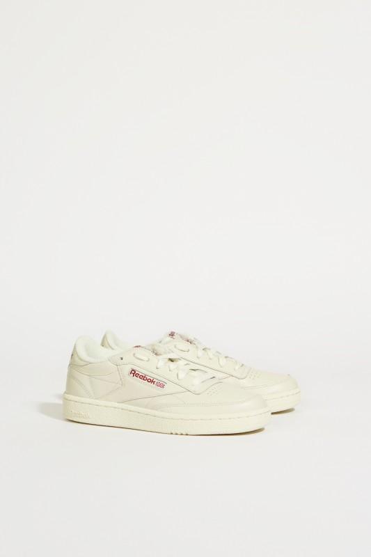 Sneaker 'Club C 85' Grau/Bordeaux