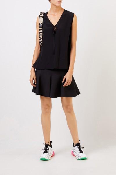 Stella McCartney Silk-Top with Binding Detail Black