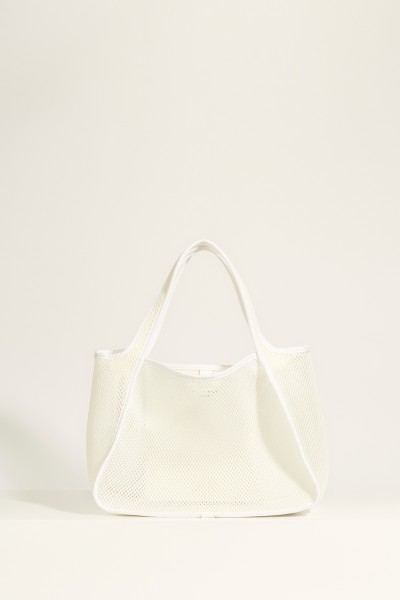 Mesh bag 'Tote Logo' White